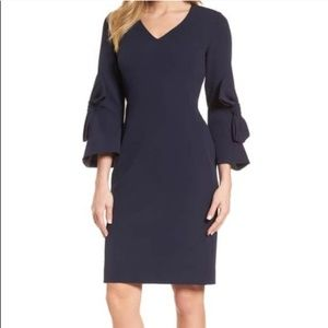 Dress with bow sleeves